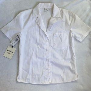 - Brand new Sunday best  white blouse